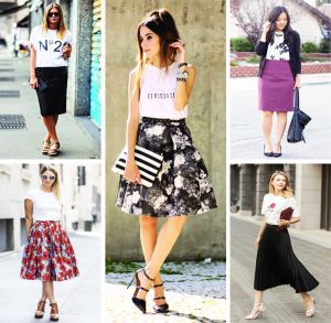 How to wear a skirt with a T-shirt   PrintSalon.pl