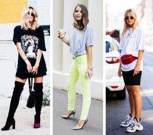 Modne długie damskie koszulki: z czym nosić? | PrintSalon.pl