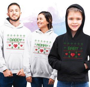 Noworoczne bluzy z kapturem dla całej rodziny   PrintSalon.pl