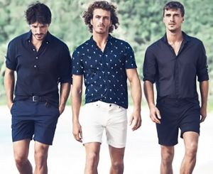 How to combine men's shorts with T-shirts, tank tops and shirts