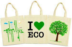 Eco bags with a print - a universal gift