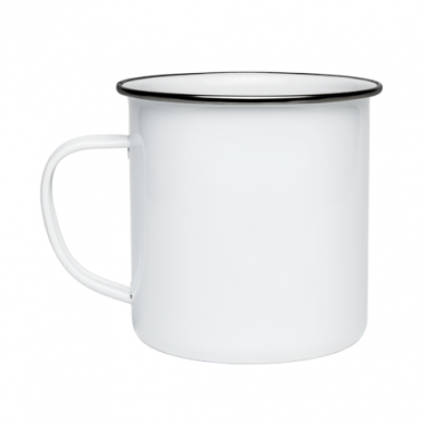 Color White, Enamelled mugs - PrintSalon