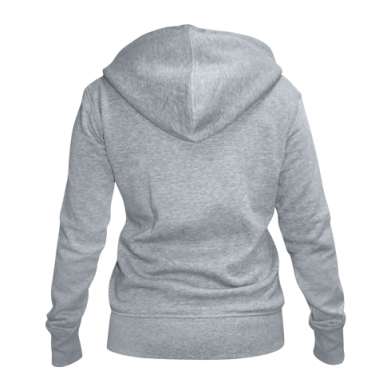 Color Grey, Women's zip up hoodies - PrintSalon