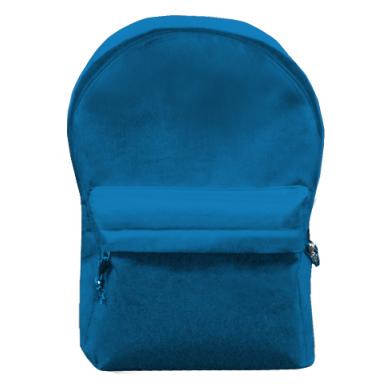 Kolor Niebieski, Plecaki z przednią kieszenią - PrintSalon