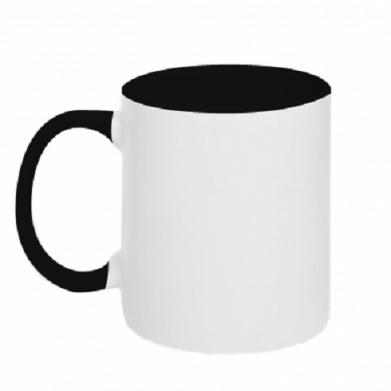 Kolor Czarny+biały, Kubki dwukolorowe - PrintSalon