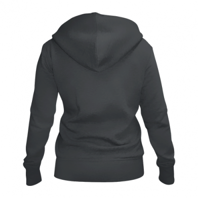 Color Black, Women's zip up hoodies - PrintSalon