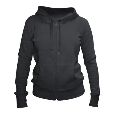 Kolor Czarny, Damskie bluzy na zamek - PrintSalon
