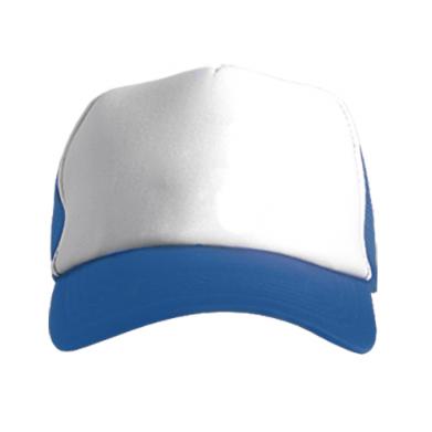 Kolor Niebieski+biały, Czapki Trucker - PrintSalon