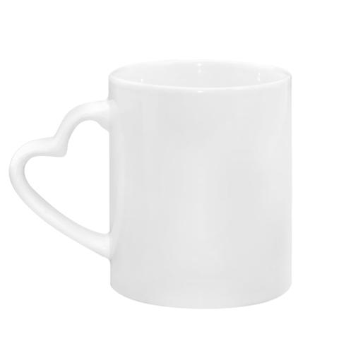 Mug with heart shaped handle Hi, spring!