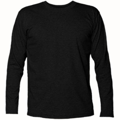 Kolor Czarny, Męskie koszulki z długim rękawem - PrintSalon