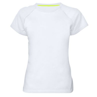 Kolor Biały, Damskie koszulki sportowe - PrintSalon