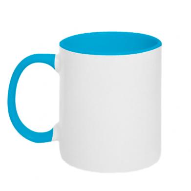 Color Blue+white, Two-toned mugs - PrintSalon