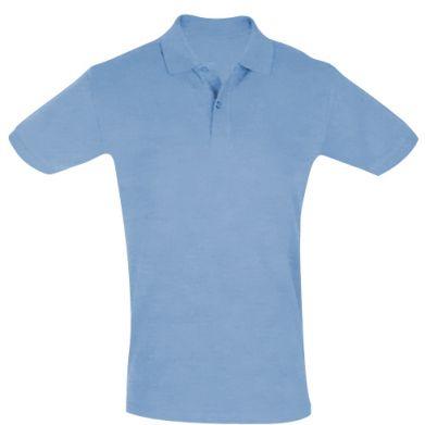 Color Pale blue, Men's polo shirts - PrintSalon