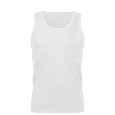 Kolor Biały, Męskie koszulki bez rękawów - PrintSalon