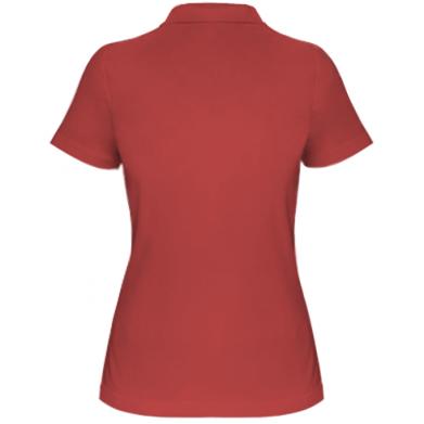 Kolor Czerwony, Damskie polo - PrintSalon