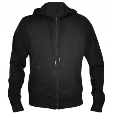 Kolor Czarny, Męskie bluzy na zamek - PrintSalon