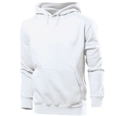 Color White, Men's hoodies - PrintSalon