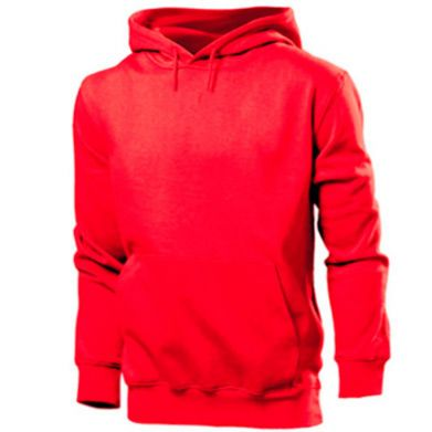 Color Red, Men's hoodies - PrintSalon