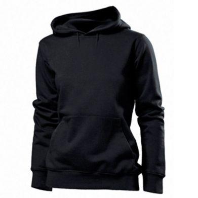 Kolor Czarny, Damskie bluzy z kapturem - PrintSalon