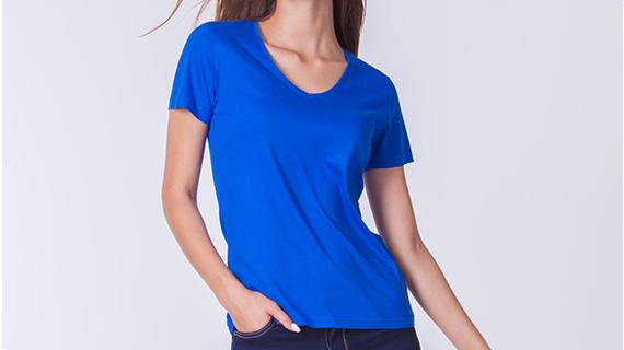 Damskie koszulki V-neck