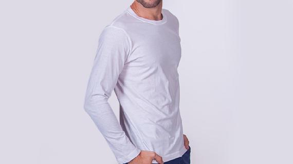 Męskie koszulki z długim rękawem