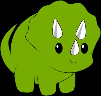 Print Bokserki męskie Little dinosaur with horns - PrintSalon