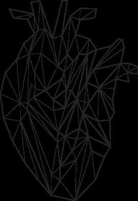 Print Kubek-kameleon Heart line - PrintSalon