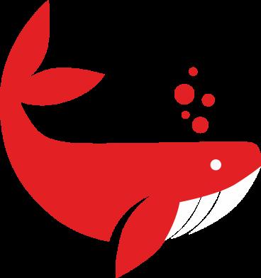 Print Bokserki męskie Rad whale - PrintSalon
