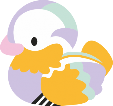 Print Bokserki męskie Bright colored duck - PrintSalon