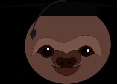 Print Sweatshirt Sloth student - PrintSalon