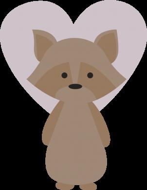 Print Bokserki męskie Raccoon with heart - PrintSalon