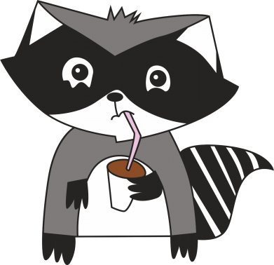 Print Bokserki męskie Embarrassed raccoon with glass - PrintSalon