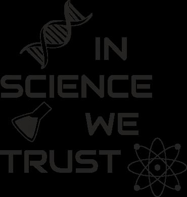 Print Water bottle In science we trust - PrintSalon