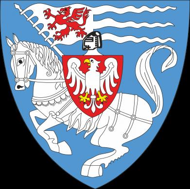 Print Water bottle Koszalin coat of arms - PrintSalon