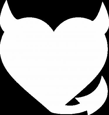 Print Women's hoodies Devil's heart - PrintSalon