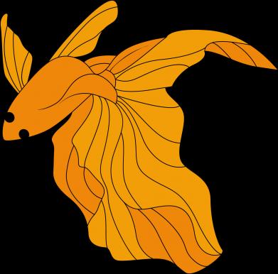 Print Sweatshirt Goldfish - PrintSalon