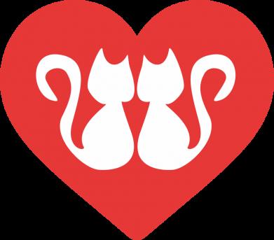 Print Plecak z przednią kieszenią Koty w sercu - PrintSalon