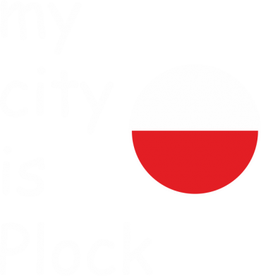 Print Męska bluza z kapturem My city is Plock - PrintSalon
