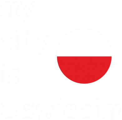 Print Męska bluza z kapturem My city is Oswiecim - PrintSalon