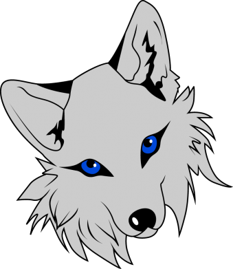 Print Damska koszulka polo Gray fox - PrintSalon