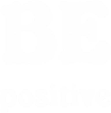 Print Męska bluza z kapturem BE positive - PrintSalon