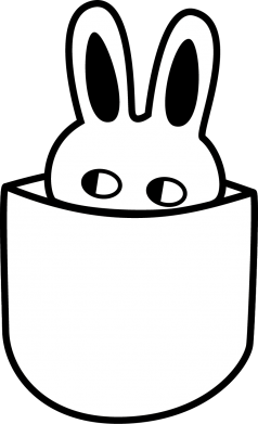 Print Women's hoodies Bunny in the pocket - PrintSalon