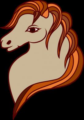 Print Sweatshirt Red horse - PrintSalon