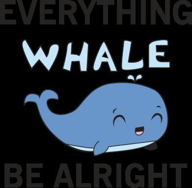 Print Etui na Xiaomi Mi6 Everything whale be alright - PrintSalon