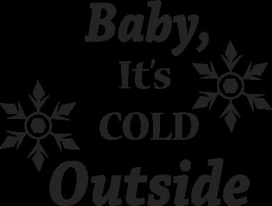 Print Etui na iPhone 11 Baby it's cold outside - PrintSalon