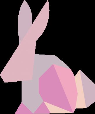Print Notes Pink Bunny Abstraction - PrintSalon