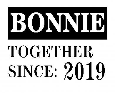 Print Bokserki męskie Bonnie Together since: 2019 - PrintSalon