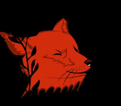 Print Water bottle Fox with closed eyes - PrintSalon