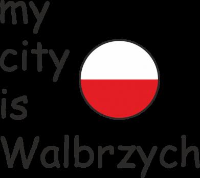 Print Baby bodysuit My city is Walbrzych - PrintSalon