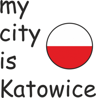 Print Baby bodysuit My city is Katowice - PrintSalon